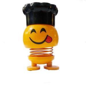 عروسک ایموجی فنری کلاه دار کد 120